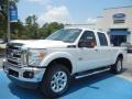 2012 White Platinum Metallic Tri-Coat Ford F250 Super Duty Lariat Crew Cab 4x4  photo #1