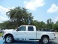 2012 White Platinum Metallic Tri-Coat Ford F250 Super Duty Lariat Crew Cab 4x4  photo #2