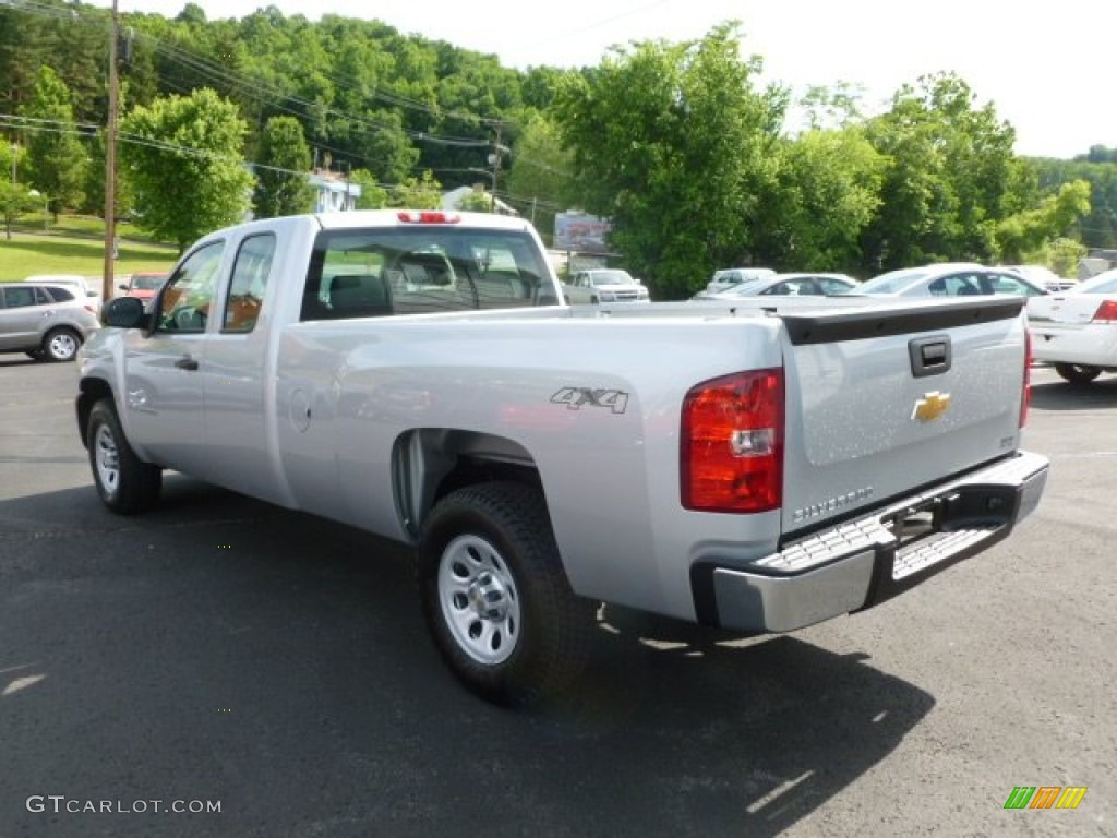 2012 Silverado 1500 Work Truck Extended Cab 4x4 - Silver Ice Metallic / Dark Titanium photo #5