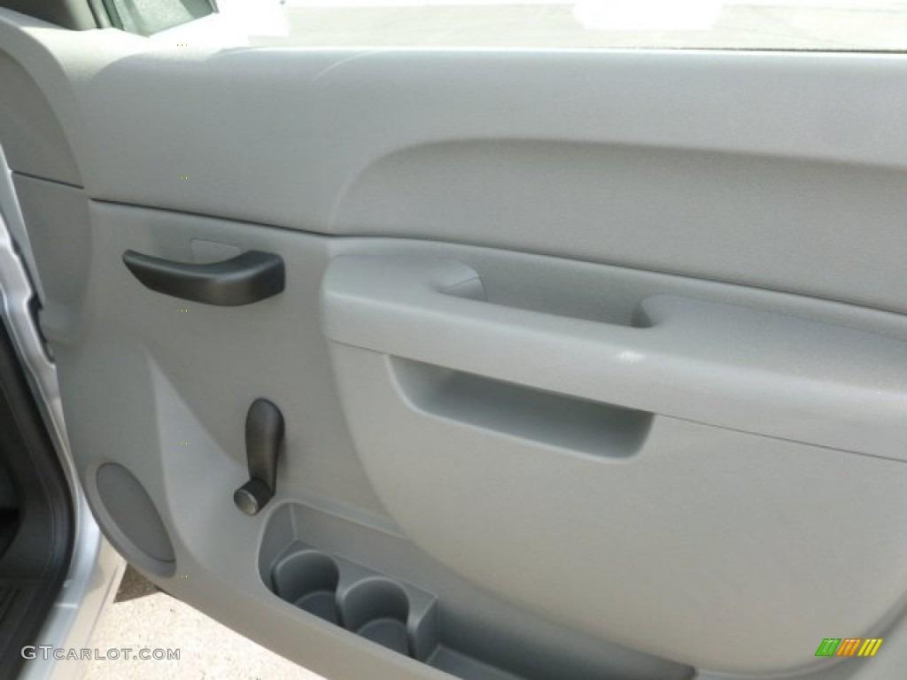 2012 Silverado 1500 Work Truck Extended Cab 4x4 - Silver Ice Metallic / Dark Titanium photo #11