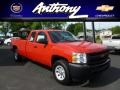 2012 Victory Red Chevrolet Silverado 1500 Work Truck Extended Cab 4x4  photo #1