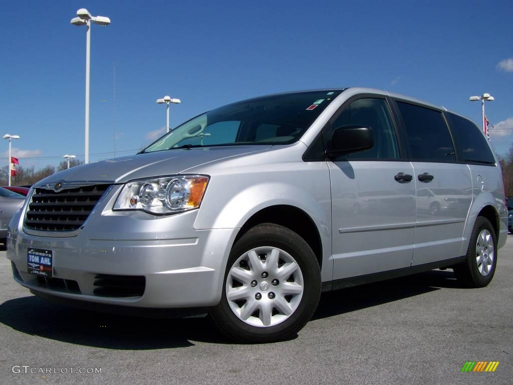 2008 bright silver metallic chrysler town country lx 6637330 photo 12 car. Black Bedroom Furniture Sets. Home Design Ideas