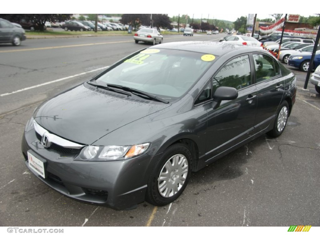 2009 polished metal metallic honda civic dx vp sedan for Honda civic vp