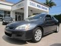 Graphite Pearl 2007 Honda Accord EX V6 Coupe