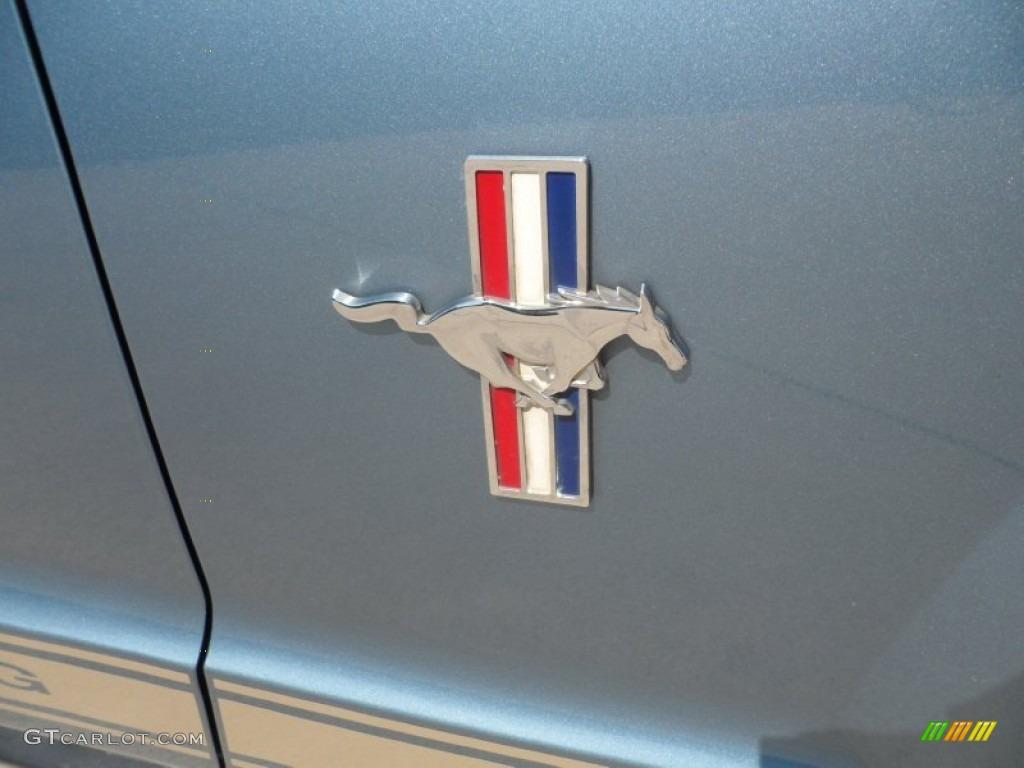 2006 Mustang V6 Premium Coupe - Windveil Blue Metallic / Light Parchment photo #16