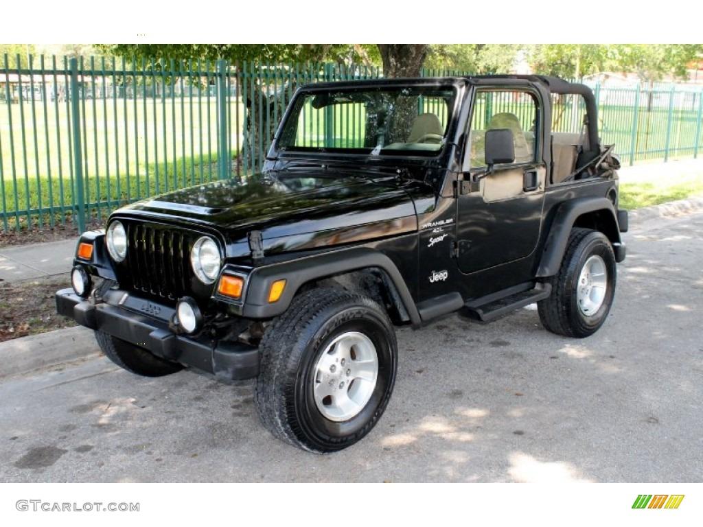2001 black jeep wrangler sport 4x4 66681128 car color galleries. Black Bedroom Furniture Sets. Home Design Ideas