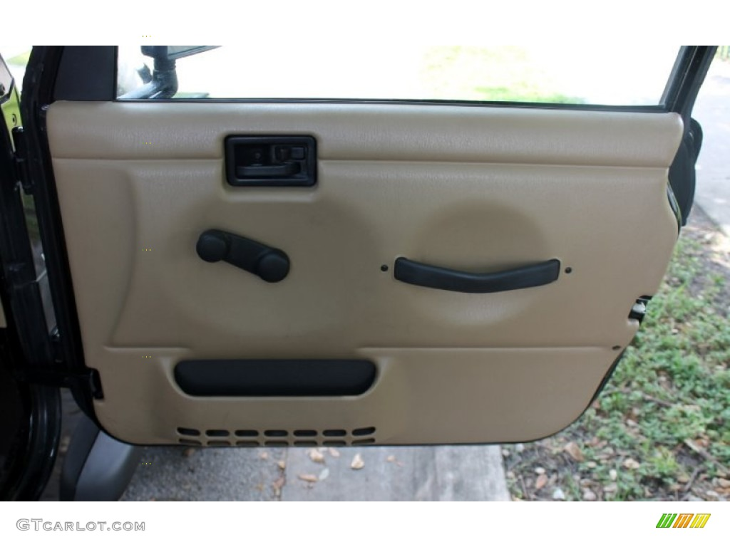 2001 Jeep Wrangler Sport 4x4 Camel Door Panel Photo