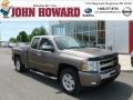 2011 Mocha Steel Metallic Chevrolet Silverado 1500 LT Extended Cab 4x4  photo #1