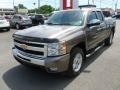 2011 Mocha Steel Metallic Chevrolet Silverado 1500 LT Extended Cab 4x4  photo #2