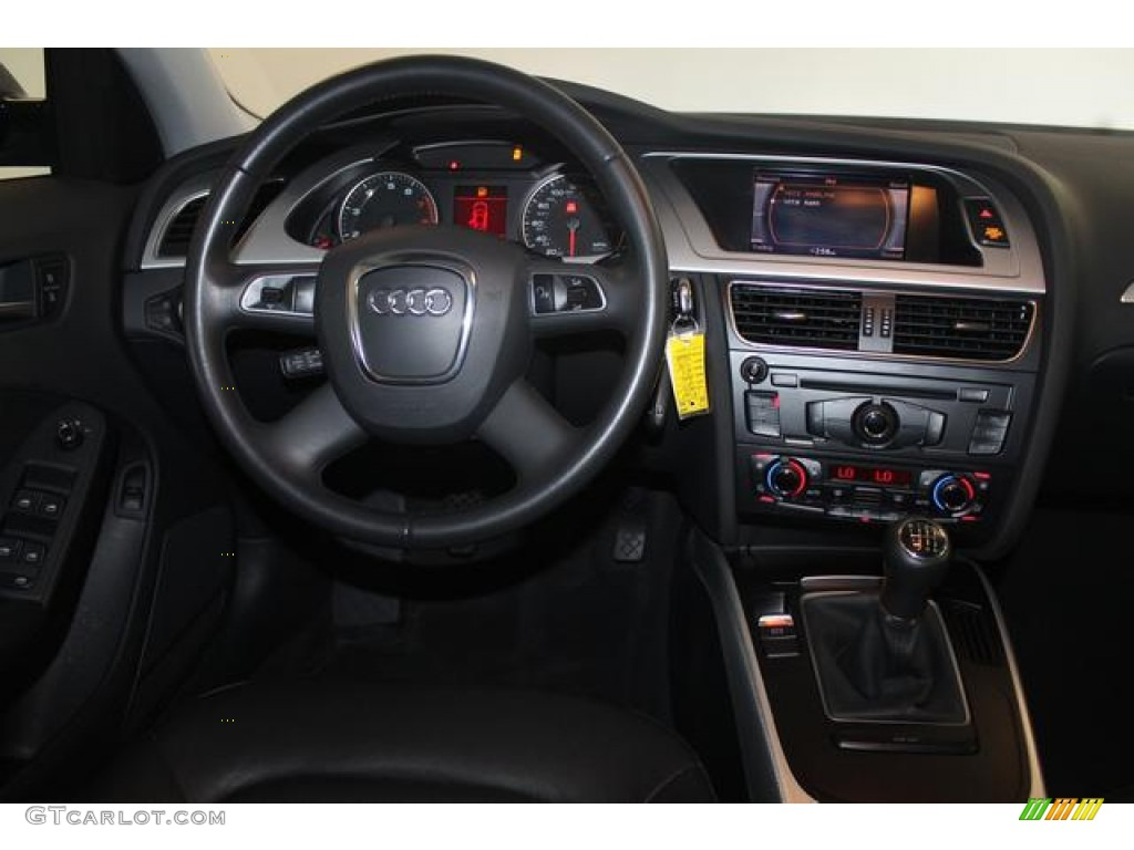 2010 Audi A4 2 0t Quattro Sedan Black Dashboard Photo