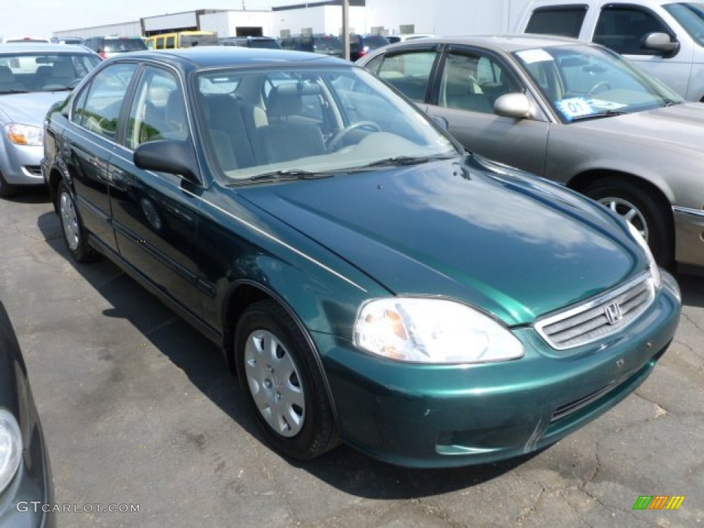 1999 Green Honda Civic | Car Interior Design