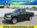 Dark Highland Green Metallic 2001 Ford F150 XLT Regular Cab 4x4