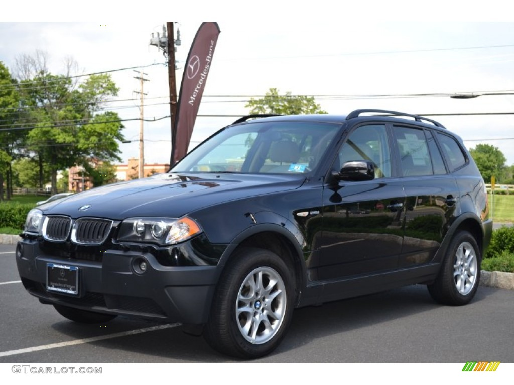 jet black 2004 bmw x3 exterior photo 66783602. Black Bedroom Furniture Sets. Home Design Ideas