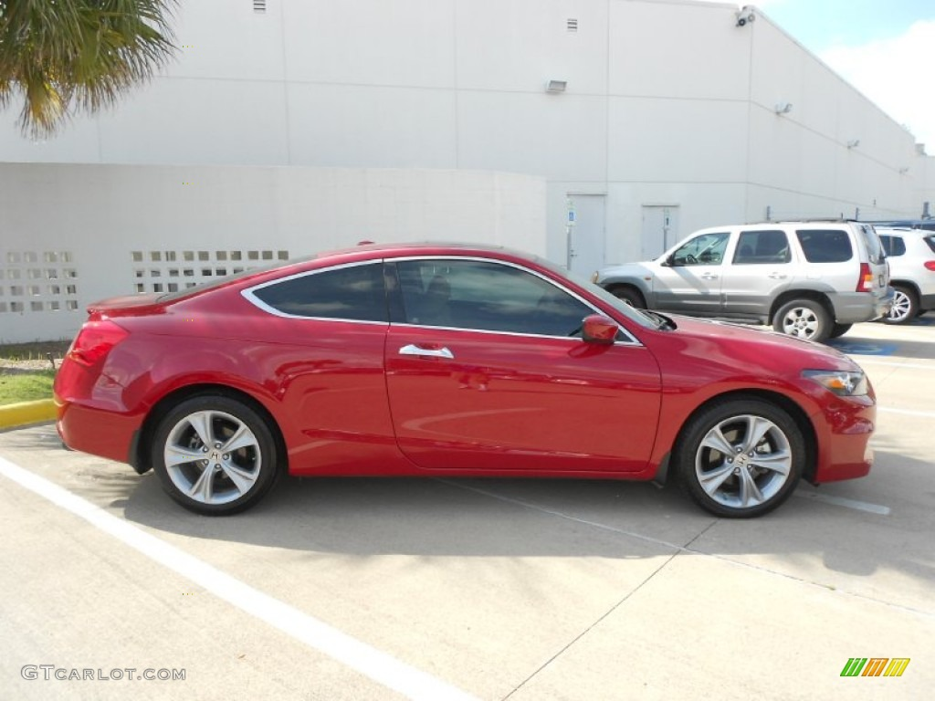 San Marino Red 2011 Honda Accord Ex L V6 Coupe Exterior