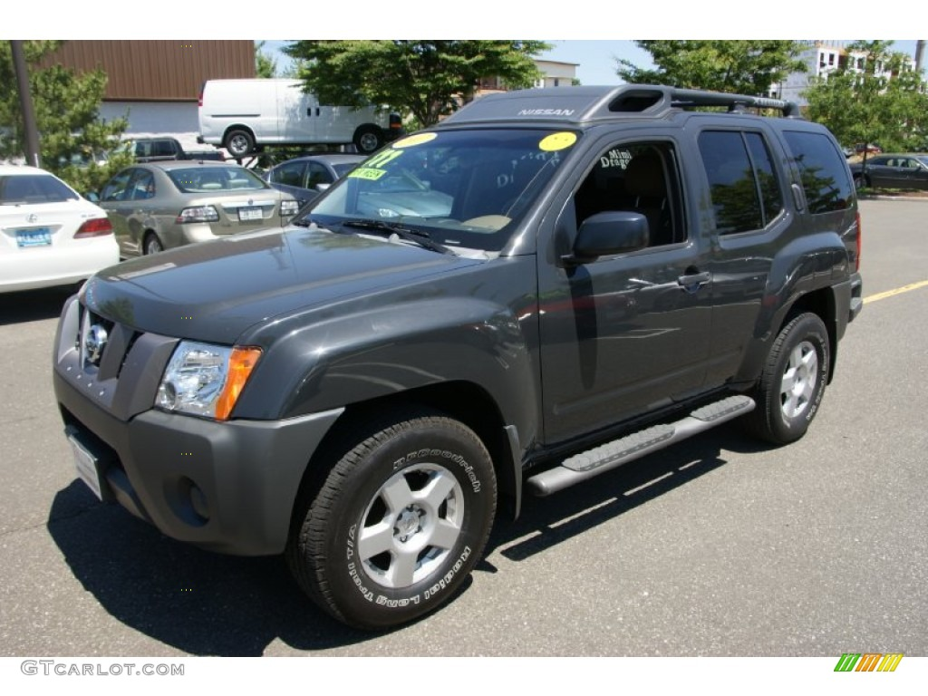 2007 night armor black metallic nissan xterra s 4x4. Black Bedroom Furniture Sets. Home Design Ideas