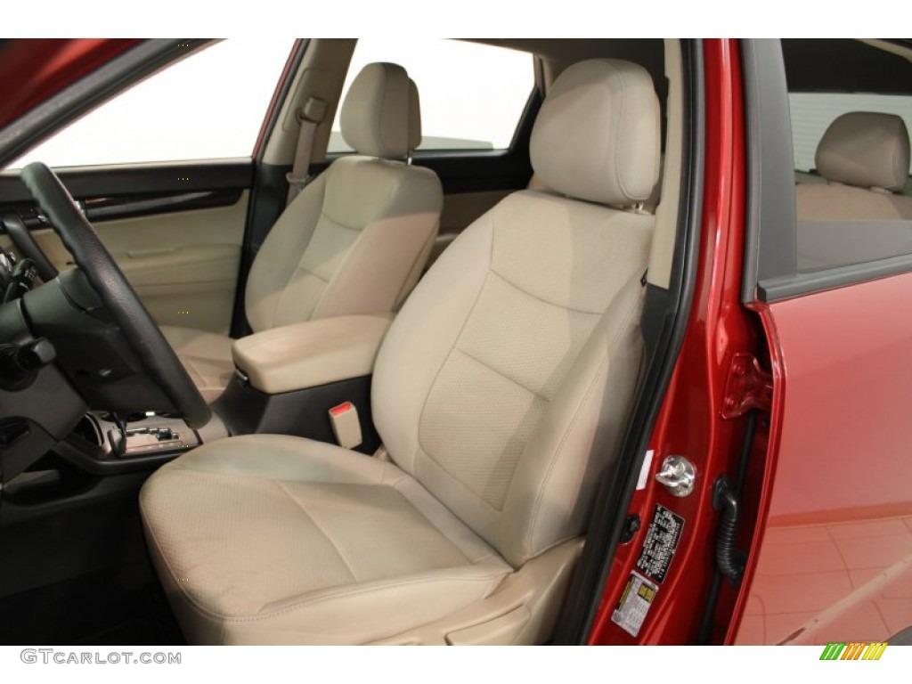 2011 Sorento LX AWD - Spicy Red / Beige photo #8