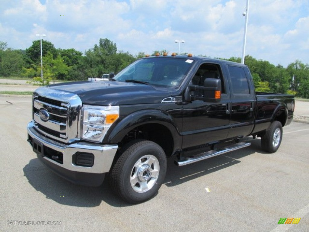 tuxedo black metallic 2012 ford f350 super duty xlt crew cab 4x4 exterior photo 66854483. Black Bedroom Furniture Sets. Home Design Ideas