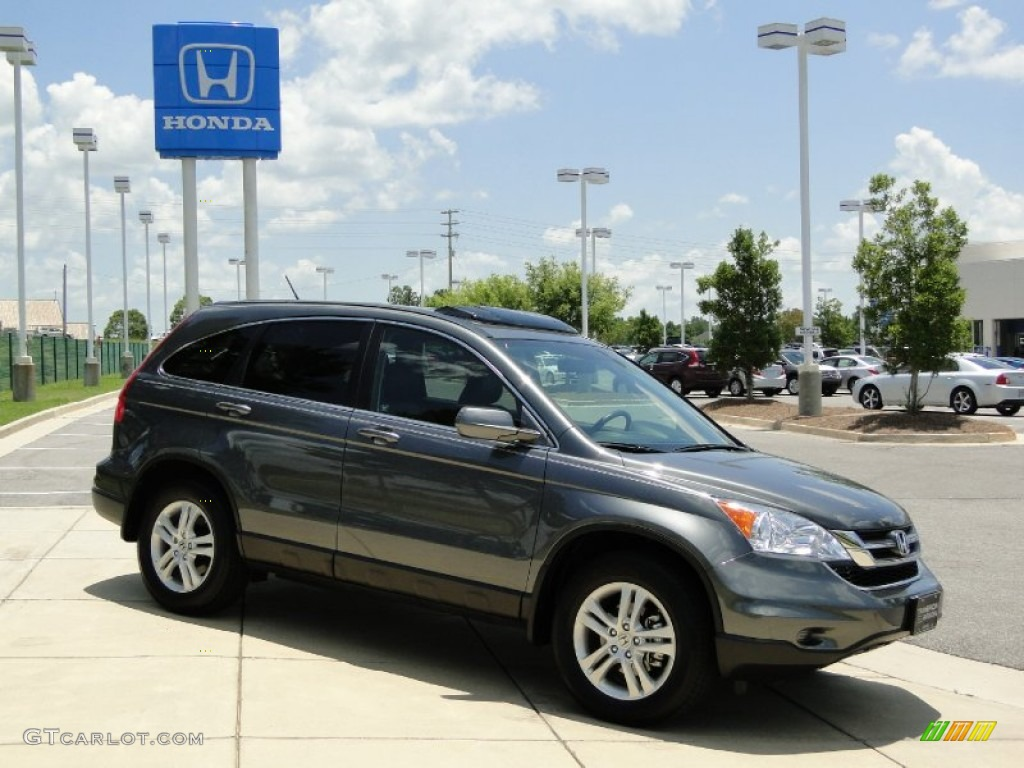 2011 CR-V EX-L - Polished Metal Metallic / Gray photo #3