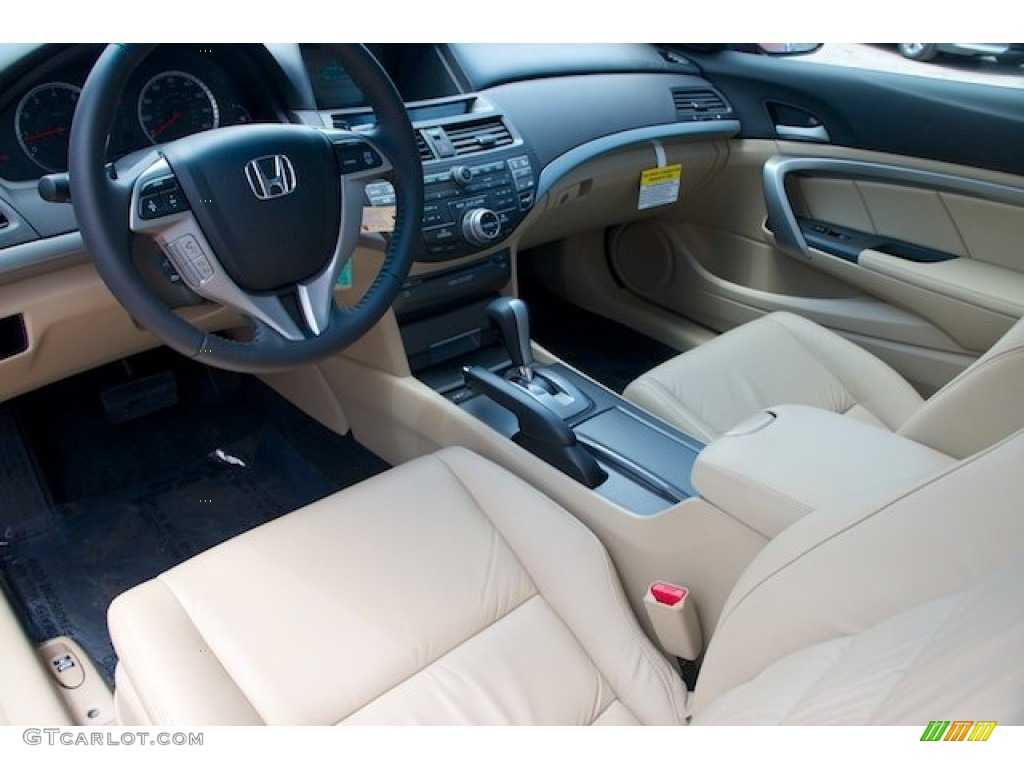 Ivory Interior 2012 Honda Accord Ex L V6 Coupe Photo