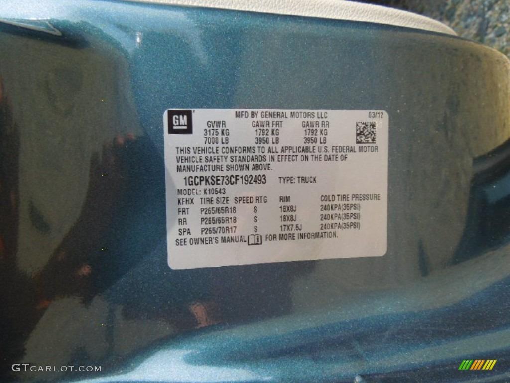 2012 Silverado 1500 LT Crew Cab 4x4 - Blue Granite Metallic / Light Titanium/Dark Titanium photo #7