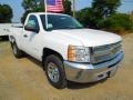 2012 Summit White Chevrolet Silverado 1500 LS Regular Cab 4x4  photo #1