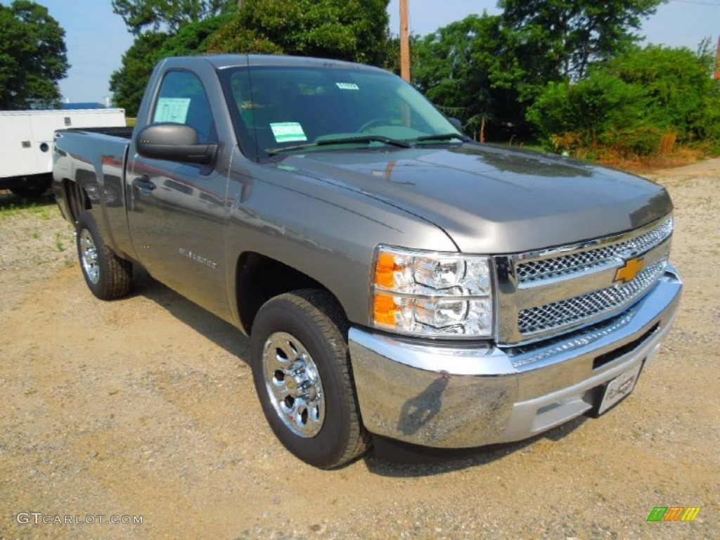 2012 Silverado 1500 LS Regular Cab - Graystone Metallic / Dark Titanium photo #1