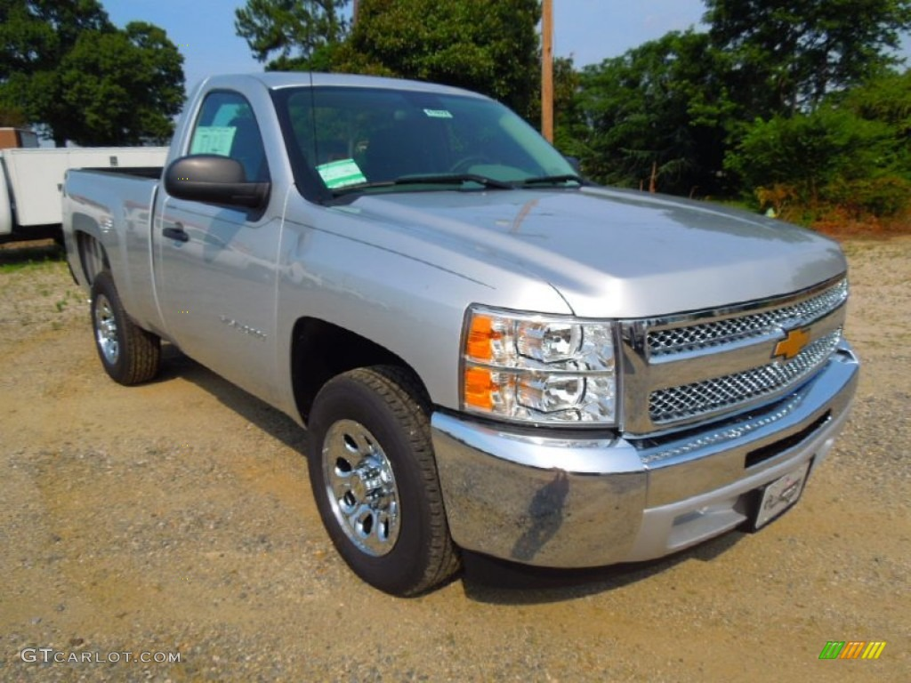 2012 Silverado 1500 LS Regular Cab - Silver Ice Metallic / Dark Titanium photo #1