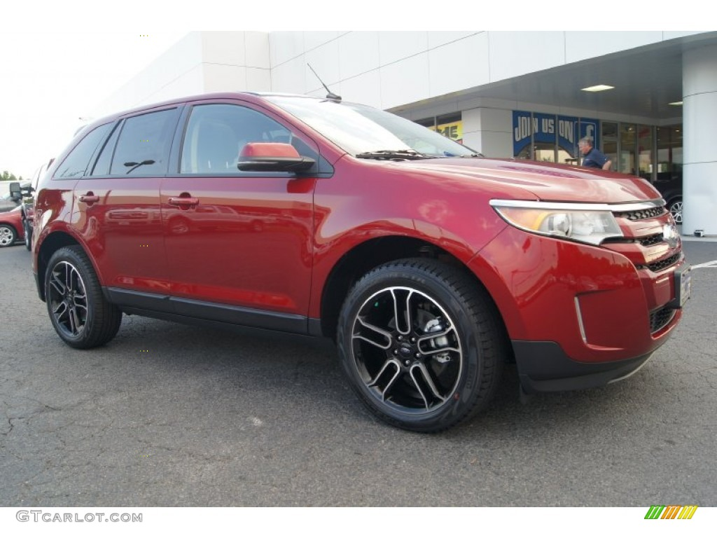 Ruby Red 2013 Ford Edge Sel Exterior Photo 66878915