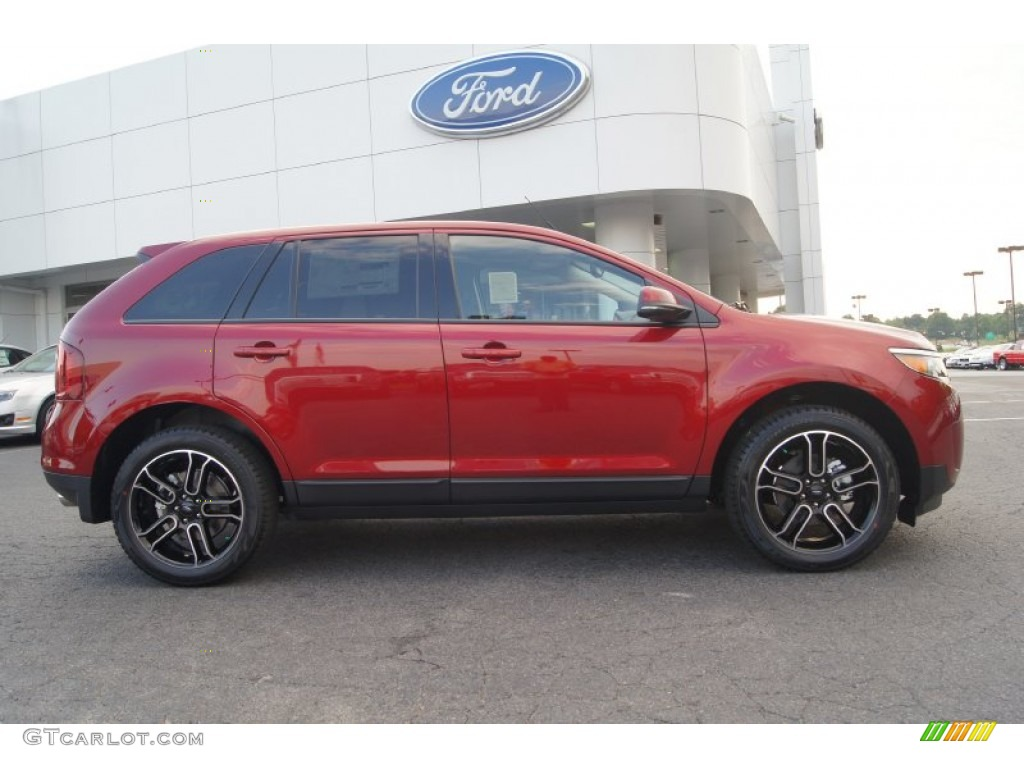 ruby red 2013 ford edge sel exterior photo 66878921. Black Bedroom Furniture Sets. Home Design Ideas