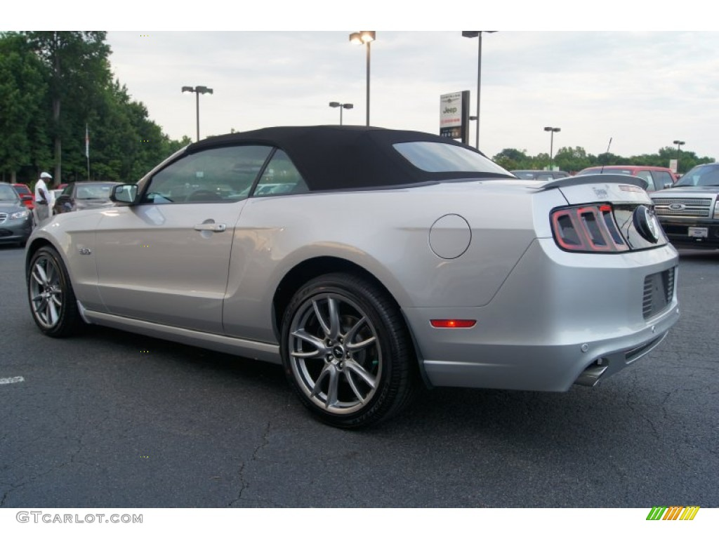 2013 mustang gt premium convertible ingot silver metallic charcoal black cashmere accent photo