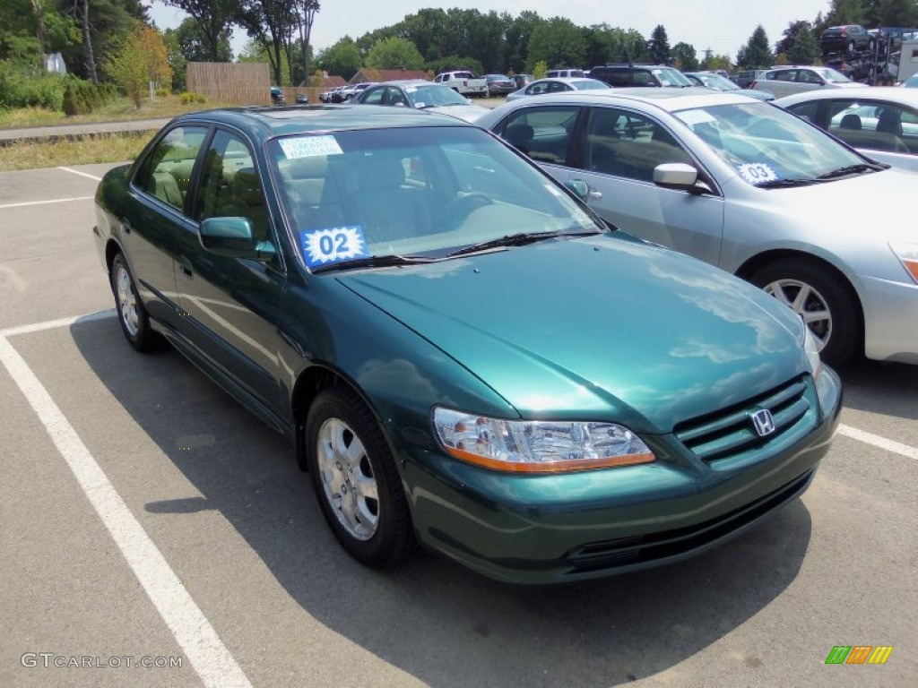 Noble Green Pearl 2002 Honda Accord Ex Sedan Exterior