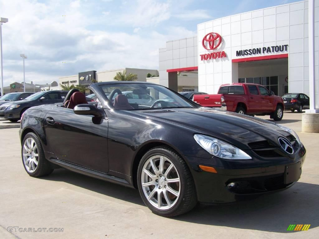 2007 black mercedes benz slk 350 roadster 6563178. Black Bedroom Furniture Sets. Home Design Ideas