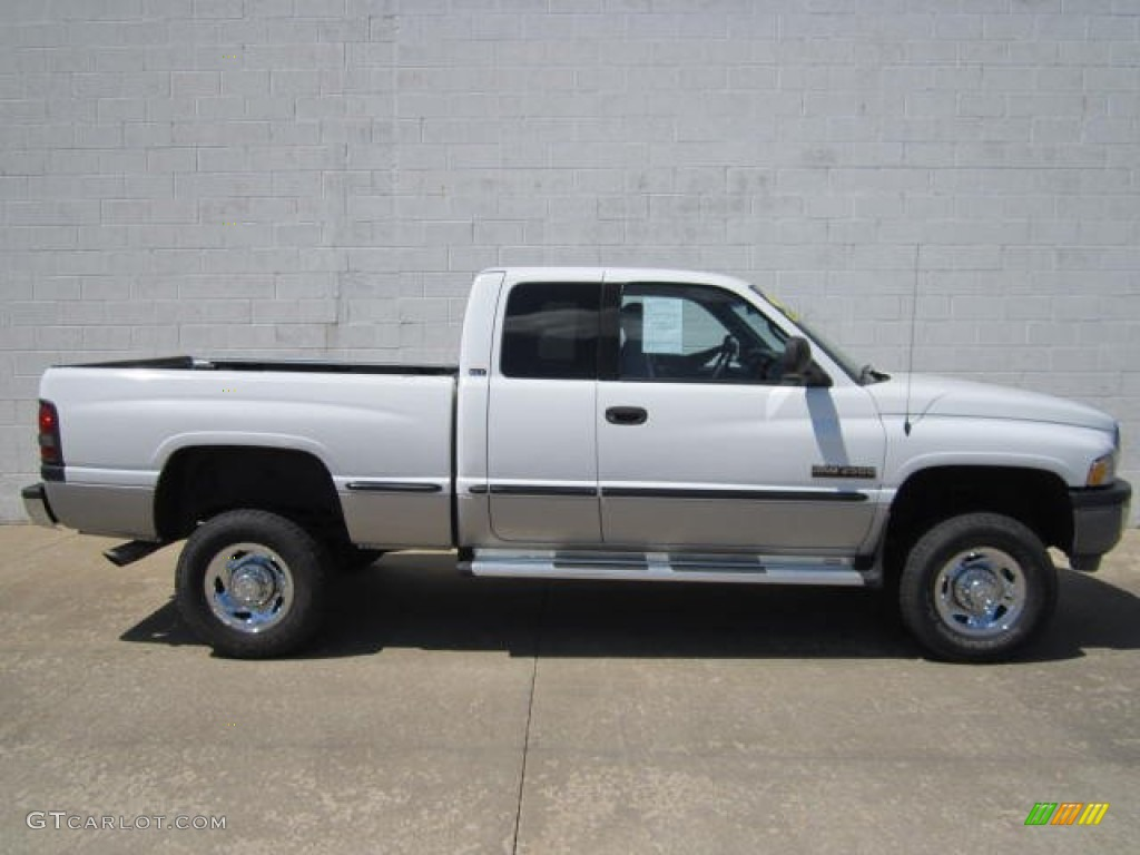 1999 bright white dodge ram 2500 slt extended cab 4x4 66882362 car color galleries. Black Bedroom Furniture Sets. Home Design Ideas