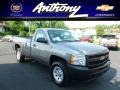 2012 Graystone Metallic Chevrolet Silverado 1500 Work Truck Regular Cab 4x4  photo #1
