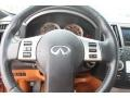 2006 Infiniti FX Brick/Black Interior Steering Wheel Photo