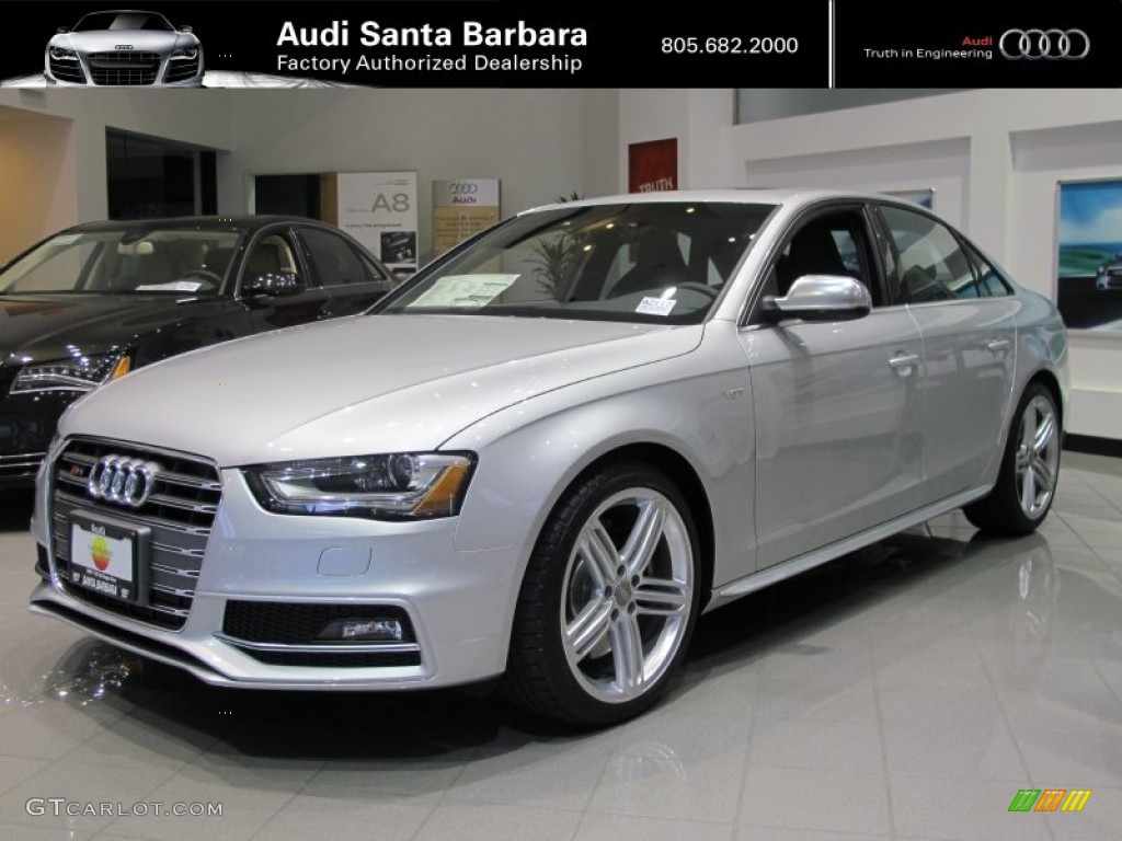 2013 ice silver metallic audi s4 3 0t quattro sedan 66882261 car color galleries. Black Bedroom Furniture Sets. Home Design Ideas