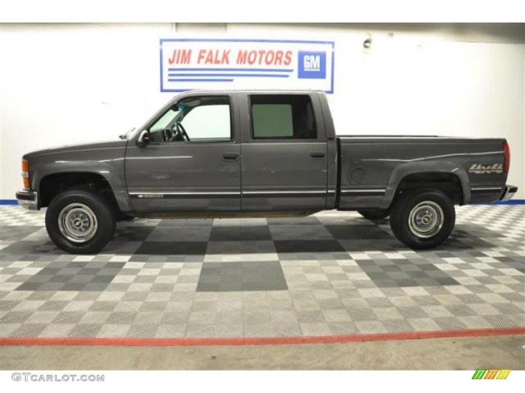 1999 silverado 2500 ls crew cab 4x4 medium charcoal gray metallic graphite photo