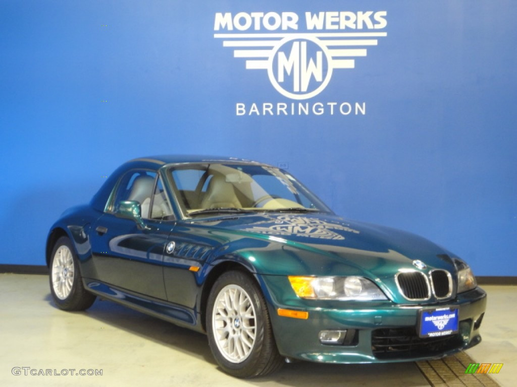 1999 Dark Green Metallic Bmw Z3 2 8 Roadster 66882112 Gtcarlot Com Car Color Galleries
