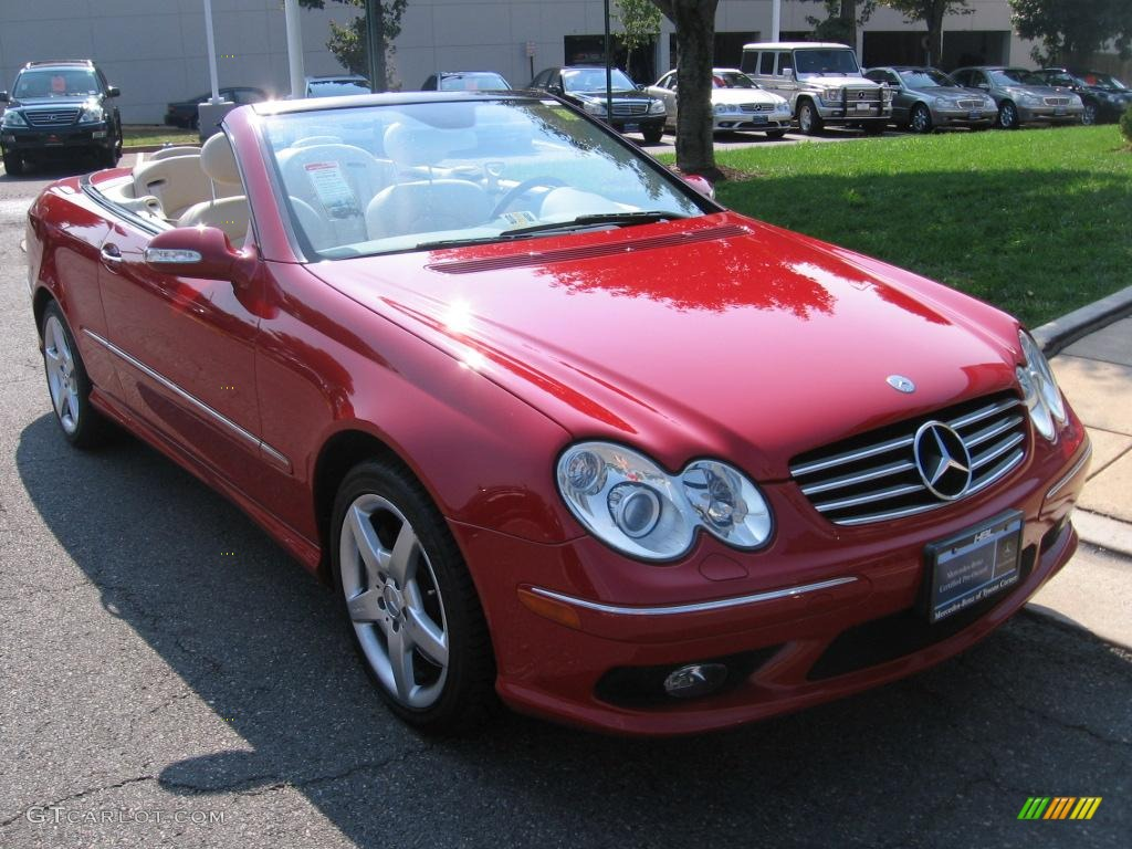 2005 mars red mercedes benz clk 500 cabriolet 6557634. Black Bedroom Furniture Sets. Home Design Ideas