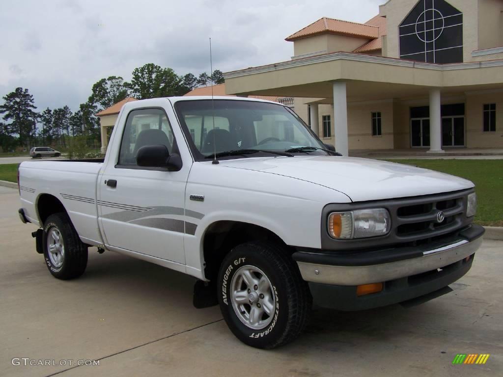 Oxford white mazda b series truck