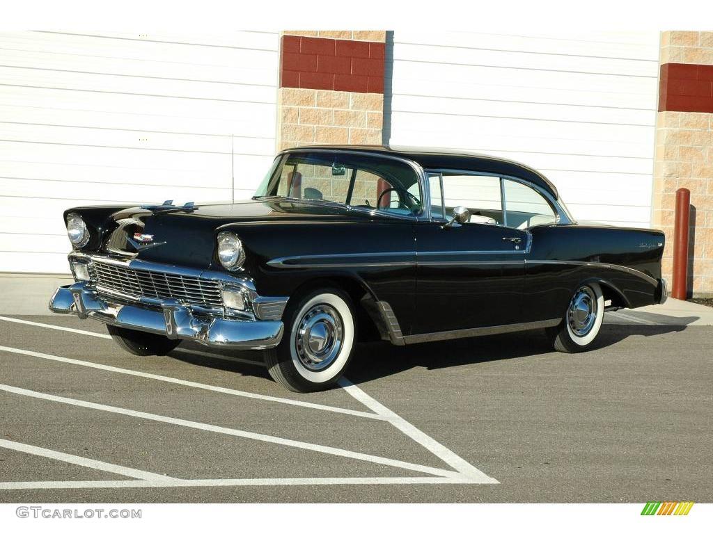 1956 black chevrolet bel air 2 door hardtop 6562184 for 1956 belair 2 door