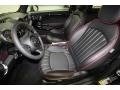 Black Lounge Leather/Damson Red Piping 2012 Mini Cooper Interiors