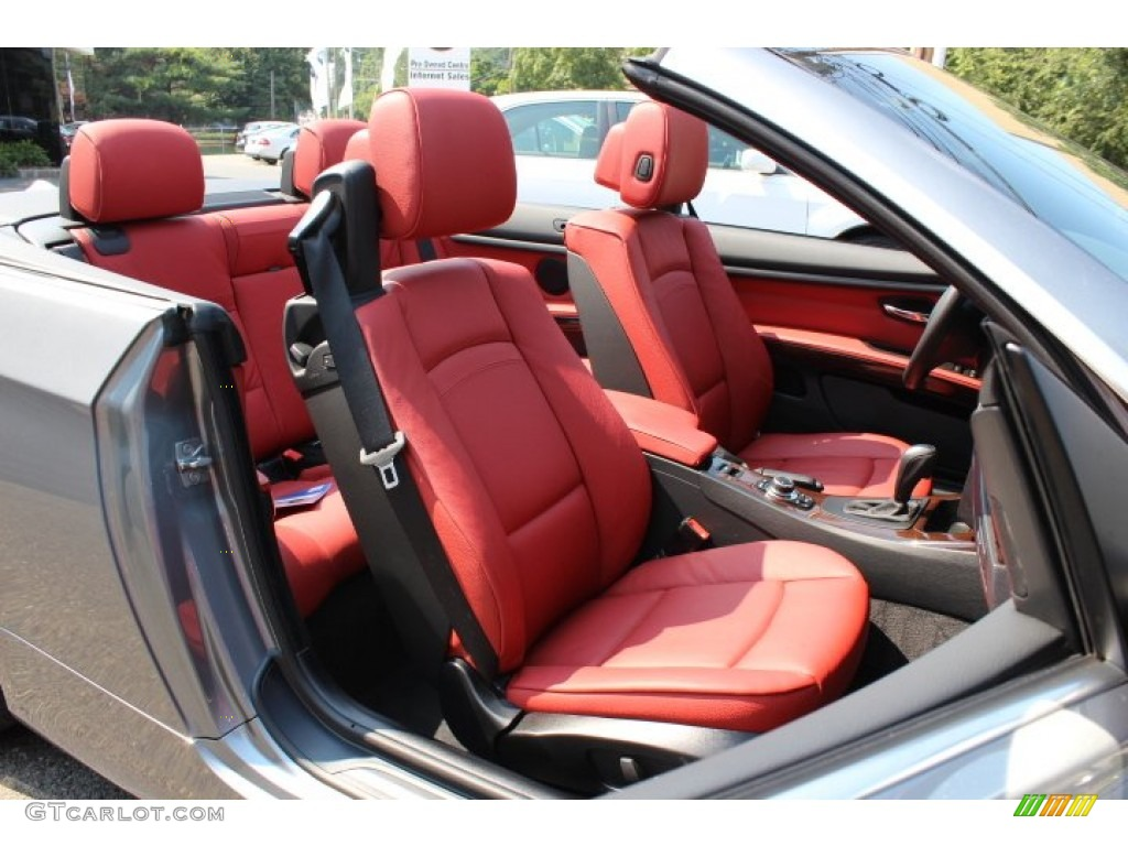 Coral Red Black Interior 2012 Bmw 3 Series 328i Convertible Photo 66975448