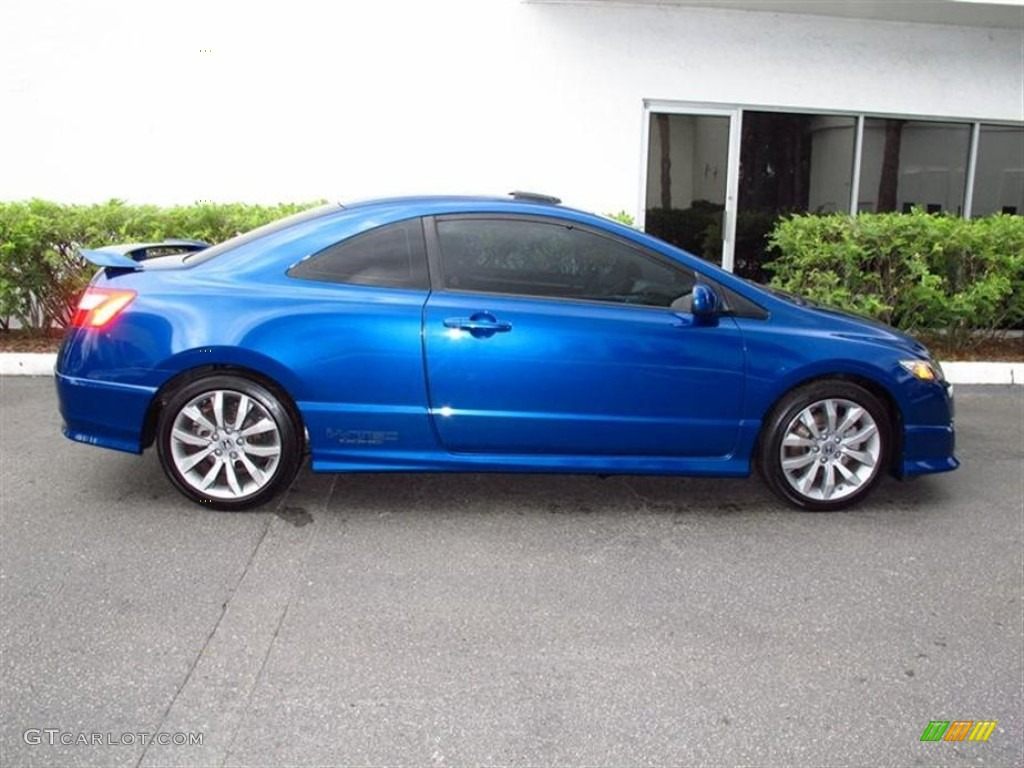 dyno blue pearl 2010 honda civic si coupe exterior photo. Black Bedroom Furniture Sets. Home Design Ideas
