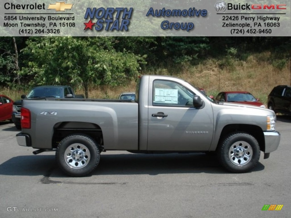 2012 Silverado 1500 LS Regular Cab 4x4 - Graystone Metallic / Dark Titanium photo #1