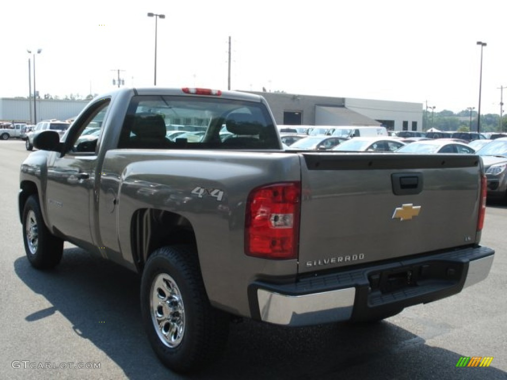 2012 Silverado 1500 LS Regular Cab 4x4 - Graystone Metallic / Dark Titanium photo #6