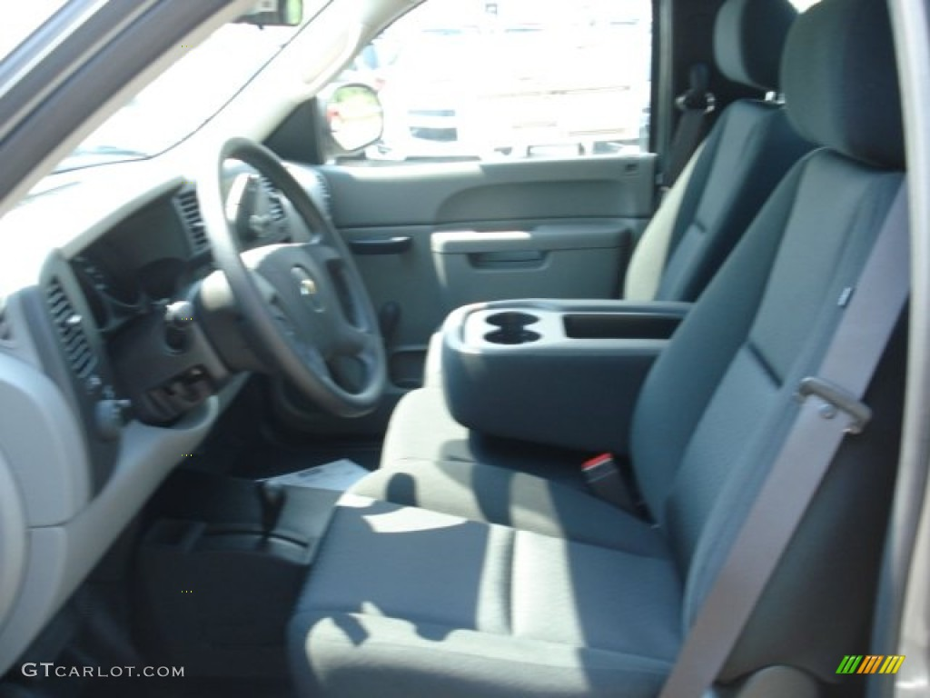 2012 Silverado 1500 LS Regular Cab 4x4 - Graystone Metallic / Dark Titanium photo #11