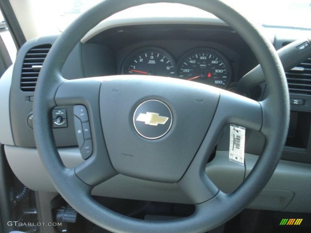 2012 Silverado 1500 LS Regular Cab 4x4 - Graystone Metallic / Dark Titanium photo #16
