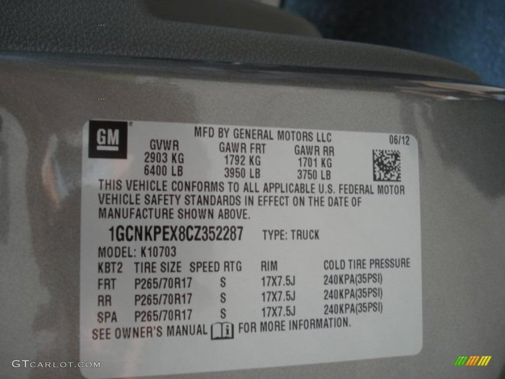2012 Silverado 1500 LS Regular Cab 4x4 - Graystone Metallic / Dark Titanium photo #20