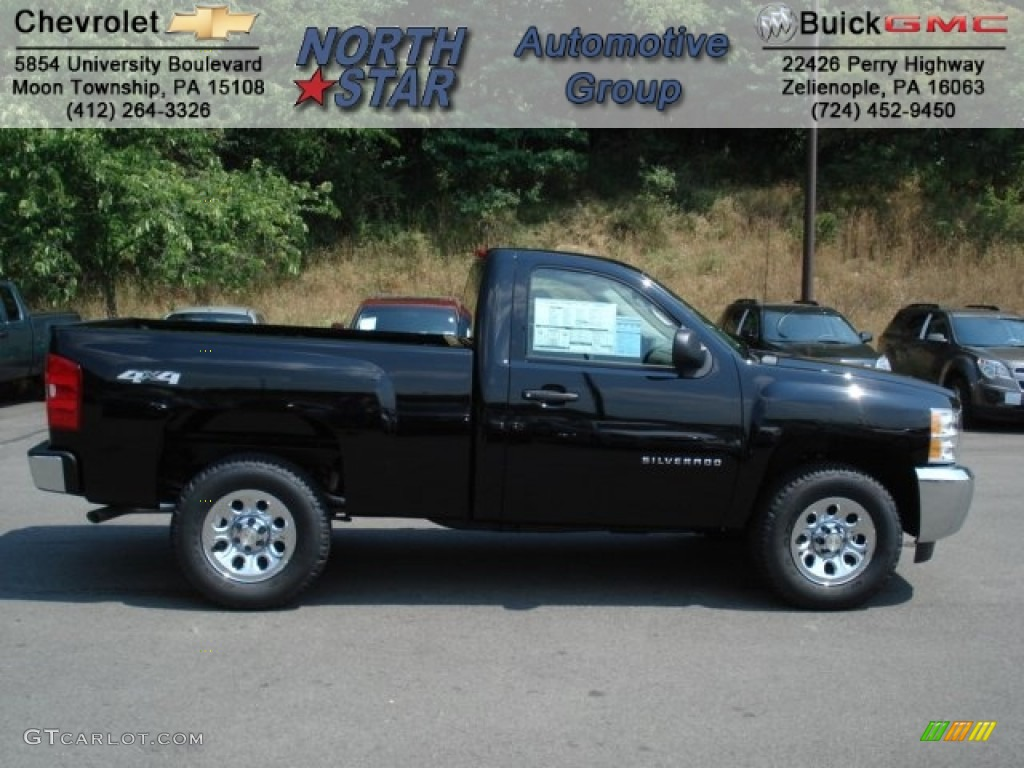 2012 Silverado 1500 LS Regular Cab 4x4 - Black / Dark Titanium photo #1